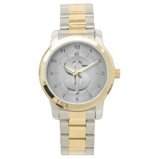 Símbolo del dólar reloj de pulsera