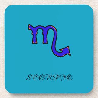 Símbolo del escorpión posavasos