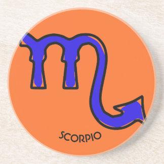Símbolo del escorpión posavasos de arenisca