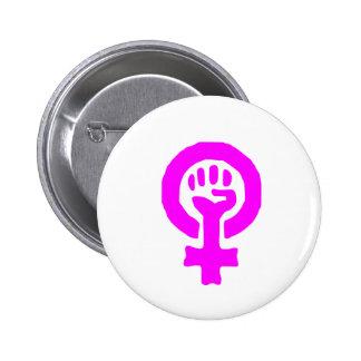 Símbolo del feminismo chapa redonda de 5 cm