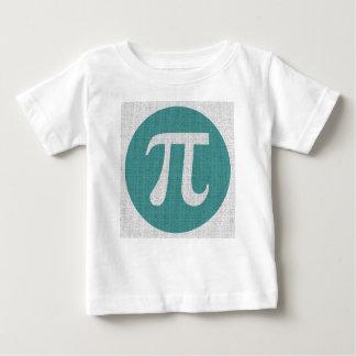 Símbolo del friki pi de la matemáticas, círculo camiseta de bebé