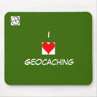 símbolo del geo, corazón, I, Geocaching Alfombrilla De Ratón