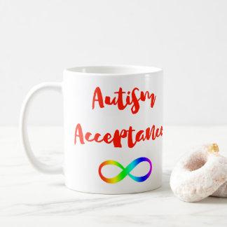 Símbolo del infinito de la aceptación del autismo taza de café