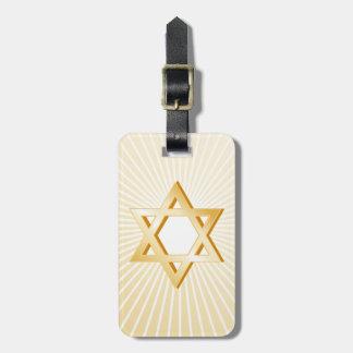 Símbolo del judaísmo etiqueta para maletas
