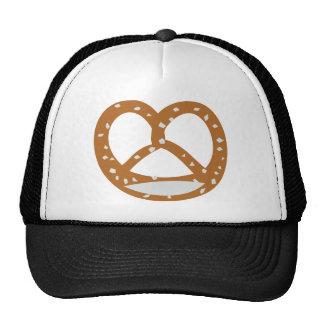símbolo del logotipo de la panadería del pretzel d gorros