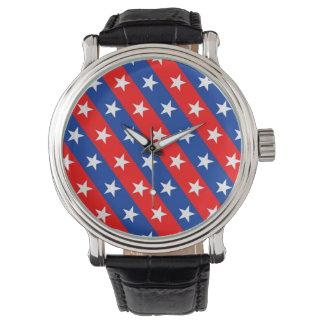 símbolo del modelo de la bandera de país de reloj de pulsera