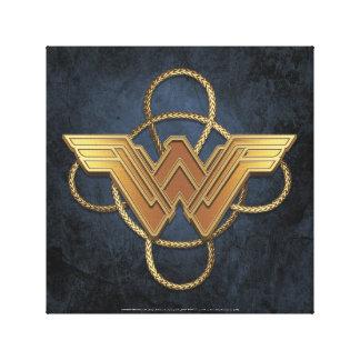 Símbolo del oro de la Mujer Maravilla sobre lazo Impresión En Lienzo