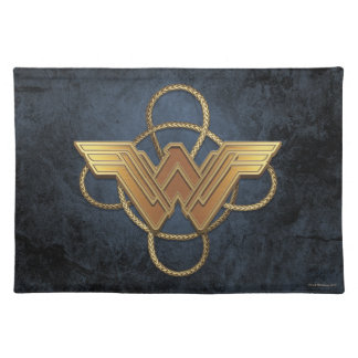 Símbolo del oro de la Mujer Maravilla sobre lazo Salvamanteles