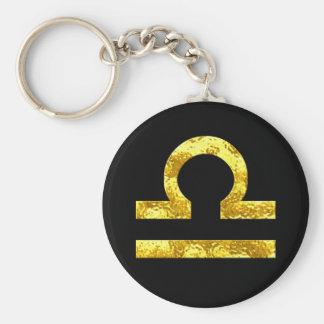 Símbolo del oro del negro de la muestra del llavero redondo tipo chapa