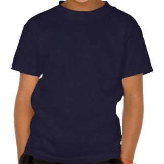 Símbolo del palo marcado con etiqueta sobre la camisetas