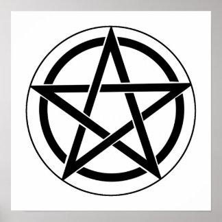 Símbolo del Pentagram Póster