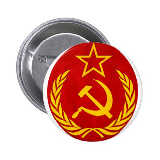 símbolo del ruso del comunismo chapa redonda 5 cm