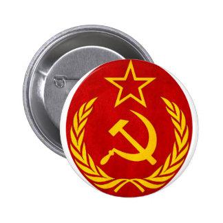 símbolo del ruso del comunismo chapa redonda de 5 cm