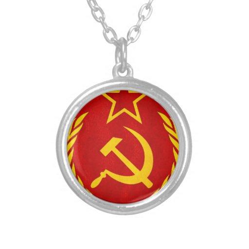 símbolo del ruso del comunismo pendiente personalizado