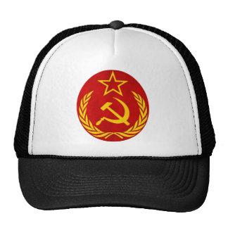 símbolo del ruso del comunismo gorros bordados