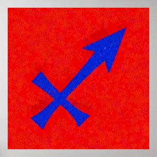 Símbolo del sagitario póster