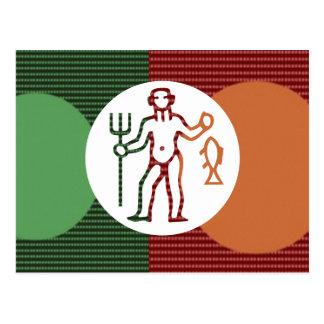 Símbolo del zodiaco de la astrología de PISCIS Tarjeta Postal