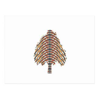 Símbolo ELEGANTE del árbol Colores metálicos STO Postales