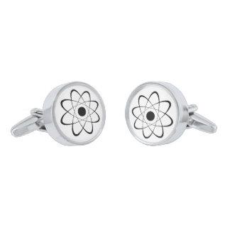 Símbolo estilizado del átomo gemelos plateados