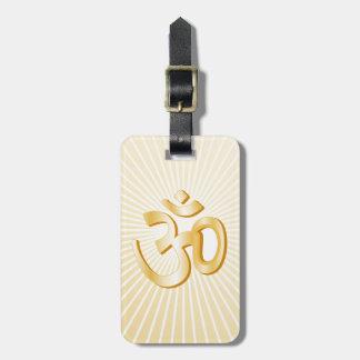 Símbolo hindú etiqueta para maletas