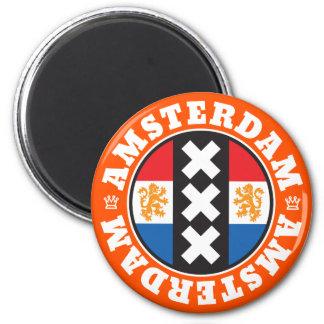 Símbolo holandés de las cruces de la bandera y de imanes