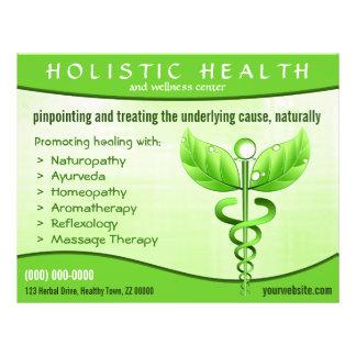 Símbolo holístico 8 5 del caduceo de la salud x 1 tarjetas publicitarias
