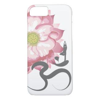 Símbolo indio de OM del espiritual de Lotus de la Funda Para iPhone 8/7