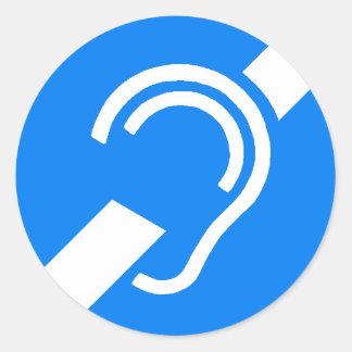 Símbolo internacional del pegatina para el sordo