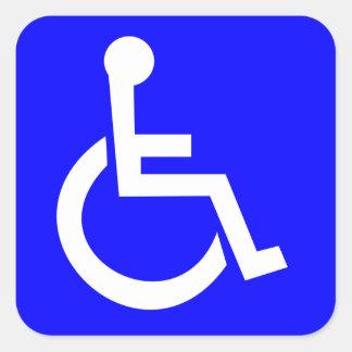 Símbolo internacional oficial del acceso calcomanías cuadradas