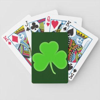 Símbolo irlandés del trébol baraja de cartas