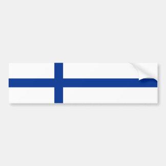 símbolo largo de la bandera de país de Finlandia Pegatina Para Coche