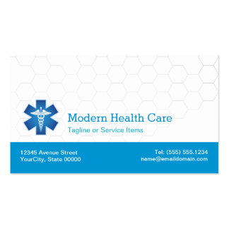 Símbolo médico - blanco azul moderno profesional tarjetas de visita