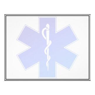 Símbolo médico del ccsme tarjetas publicitarias