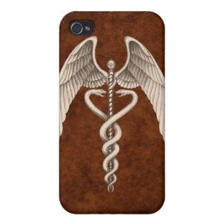 Símbolo médico I del caduceo del vintage iPhone 4/4S Carcasa