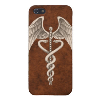 Símbolo médico I del caduceo del vintage iPhone 5 Carcasa