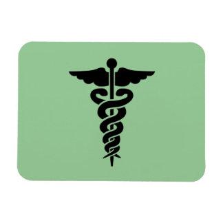 Símbolo médico imanes rectangulares