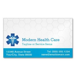 Símbolo médico para la atención sanitaria clínica tarjetas de visita magnéticas (paquete de 25)