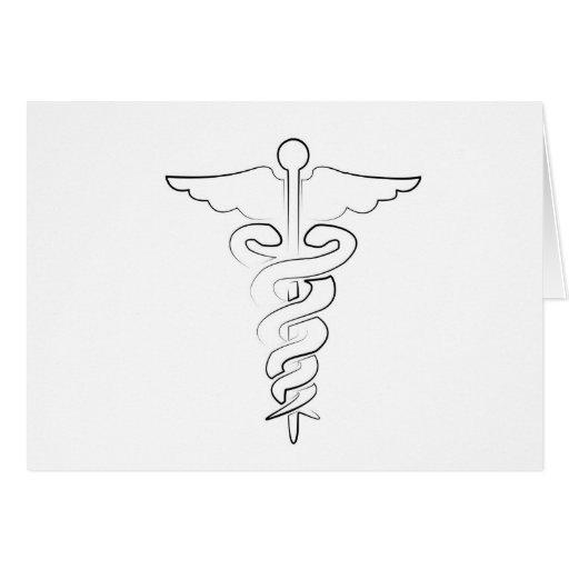 Símbolo médico felicitación