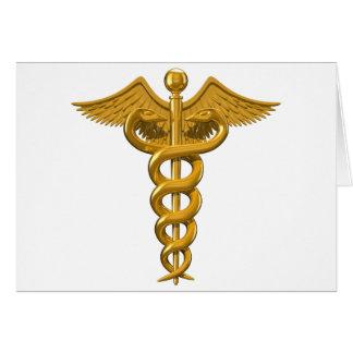 Símbolo médico tarjeta