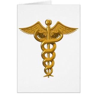 Símbolo médico tarjeta de felicitación