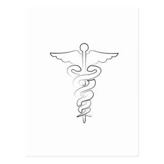 Símbolo médico tarjetas postales