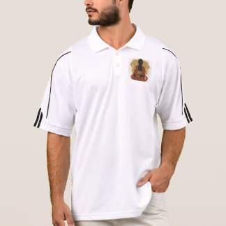 Símbolo Meditating de Buda OM Polo Camiseta
