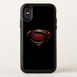 Símbolo metálico del superhombre de la liga de