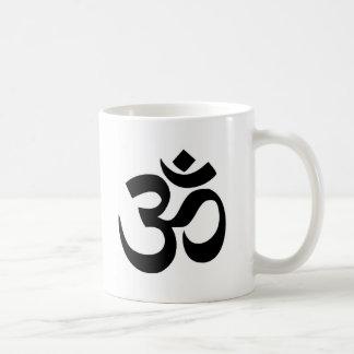 Símbolo negro y blanco mínimo de OM Taza De Café