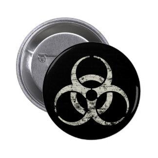 Símbolo nuclear del vintage chapa redonda de 5 cm