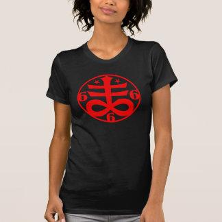 Símbolo oculto cruzado satánico del gótico camiseta