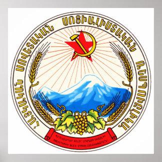 Símbolo oficial de la heráldica de Armenia del esc Posters