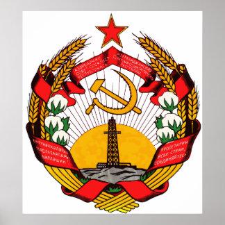 Símbolo oficial de la heráldica de Azerbaijan del  Posters