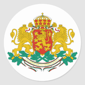 Símbolo oficial de la heráldica del escudo de pegatina redonda