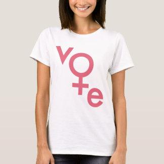 Símbolo para mujer del género del voto camiseta